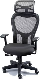 chair with headrest. eurotech apollo mesh back, fabric seat office chair with headrest
