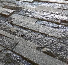 natural stone black shimmer stacked