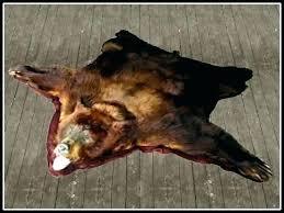 fake bear skin rug with head fake bear skin rug with head bear head rug faux