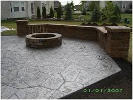 Backyards Winsome View In Gallery Stamped Concrete Pool Deck