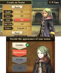 Back when the idea of character customization was first introduced, players would be lucky if they had more then three different hairstyles to choose between. Avatar Fire Emblem Wiki