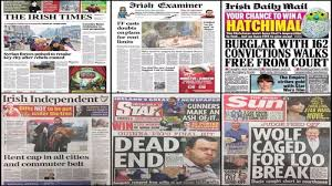 There's something beautiful about the experience of reading a print newspaper; Newspaper Headlines A Meltdown Of Humanity
