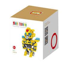 jual loz gift large yellow robot 9401 mini blocks harga kualitas terjamin blibli