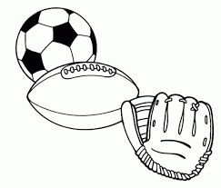Small Picture Sports balls Free Printable Coloring Pages