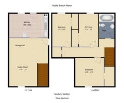 3BR/1BA   Middle Branch Apartments