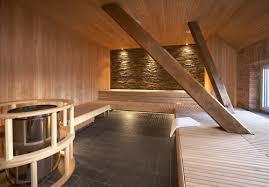 Awesome Grand Sauna Intérieur En Bois Avec Poêle En Inox à Granulés