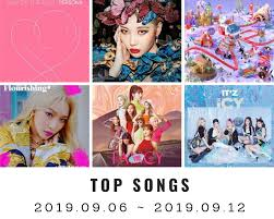 Latest Chart Songs Youtube Youtube Top Songs On Youtube Korea 37th Week 2019 2019 09