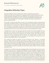 Reflection paper online writing service. Integrative Reflection Paper Phdessay Com