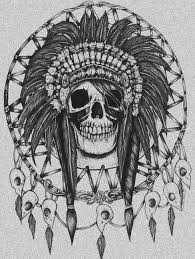 Indian Chief Dream Catcher Fascinating Indian Skull Tattoo Design Dream Catcher Ink ♡INK ME BABY