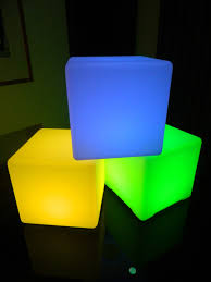 Glow Furniture Illuminated Furniture Rechargeable Led Cube With Color Change