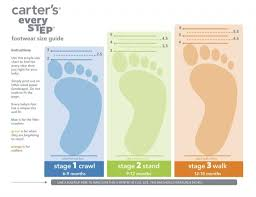 Carters Infant Shoe Size Chart Baby Steps With Carters Every Step Shoes Carters Baby