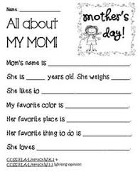 a mother s day story written and illustrated by kids aunt  all about my mom mother s day writing common core