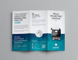 Brochure Templates For It Company Ocean Corporate Tri Fold Brochure Template 001169 Template