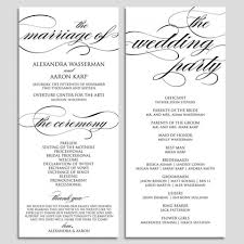 008 template ideas wedding program printable ceremony pdf instant script diy wbwd6 shocking for programs