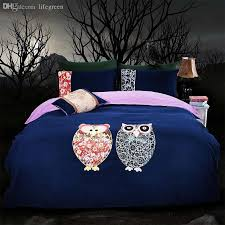 owl comforter set king whole dark blue queen twin size korean 5