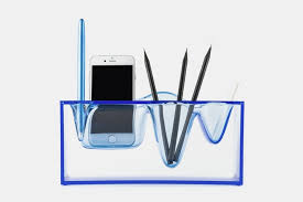 coolest office supplies. Liquid Station Desktop Organizer Makes Your Office Supplies Look Like They\u0027re Suspended In Ice Coolest