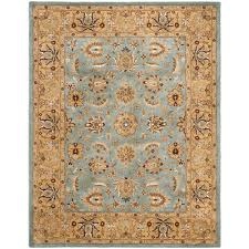 safavieh heritage blue gold 9 ft x 12 ft area rug