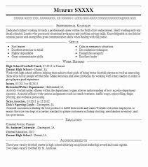 Football Coaching Resume Template High School Football Coach Resume Sample Coach Resumes