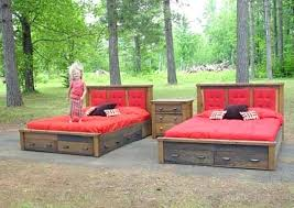 rustic platform beds with storage. Rustic Platform Bed With Drawers Storage . Beds A