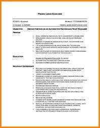 10 Auto Technician Resume Letter Adress