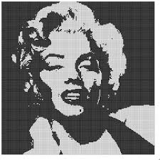 Free Marilyn Monroe Embroidery Designs Free Filet Crochet Charts And Patterns Filet Crochet