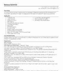 Office Manager Resume Samples Best Of Office Manager Resume Sample Objective Luxury Management Template Of