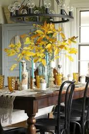 amber and aqua vine dining table thanksgiving style