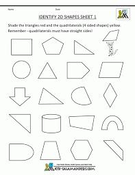 Identifying Shapes Worksheets - Checks Worksheet