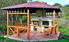 outdoor kitchen gazebo this might be our favorite gazebo yet its not only a handsome natural outdoor kitchen gazebo
