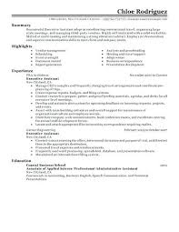 Resume Objective For Executive Assistant Management Resume Samples ...