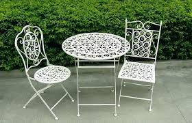 White wrought iron garden furniture Lawn White Iron Garden Furniture Metal Garden Bistro Set Brilliant Outdoor Table And Chairs Red White Metal White Iron Garden Furniture Busnsolutions White Iron Garden Furniture Metal Black And White Patio Furniture