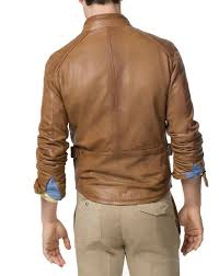 mens brown leather jacket in united states marsh men leather designer jacket leathersketch usa
