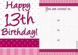 free 13th birthday invitations free 13th birthday invitations choice image party xyz