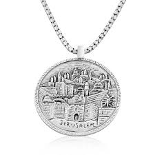 sterling silver old jerum coin necklace large jpg