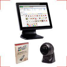 MakroCell Krom Barkod Sistemi Dokunmatik bilgisayar + Masaüstü barkod  okuyucu + Barkodlu satış programı - BarkodSis