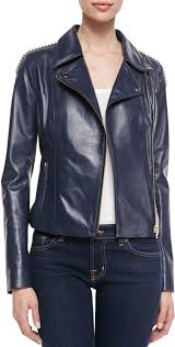 leather biker jackets vince jo peters studded lambskin moto jacket