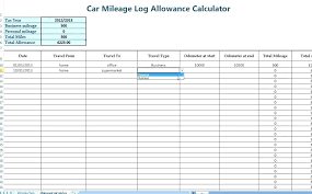 Mileage Log Template Excel Excel Mileage Log Template Awesome