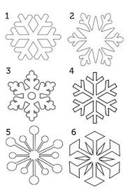 Snow Templates 120 Best Snowflake Cutouts Images Paper Snowflakes Christmas