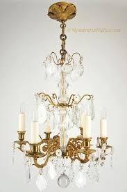 antique bronze crystal chandelier 6 candle french gilt bronze crystal chandelier circa crystal leaf 3 light