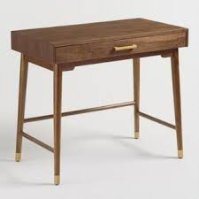 office desk for home. Brown And Gold Walnut Zola Desk Office For Home