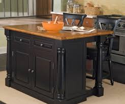painted kitchen islandsDebonair Kitchen Wooden Black Painted Kitchen Island Stool Set
