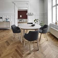 Table ronde en bois style scandinave extensible - SM112 | 4-pieds.com