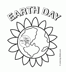 Beauty Earth Earth Day Coloring Page