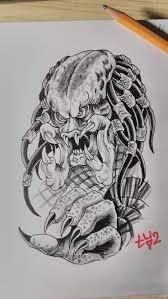 сделать татуировку хищник 10x16 см в городе екатеринбург по эскизу