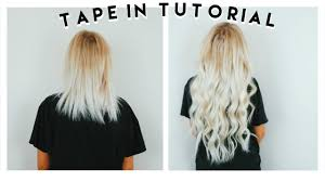 How To Apply Tape In Hair Extensions At Home Ft Vp Fashion