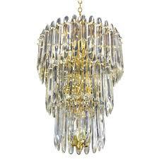 retro odeon crystal glass fringe 3 tier chandelier odeon crystal glass fringe 3 tier chandelier large