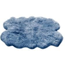 origin rugs sheepskin quad teal