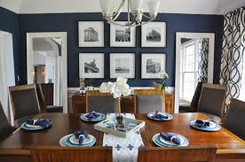 navy blue dining rooms. Blue Dining Room Gallery Wall Navy Rooms