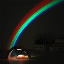 Rainbow Projector Light Coversage Led Rainbow Projector Light Children Kids Baby Sleeping Romantic Projection Lamp Night Light Atmosphere Lamps Bedroom