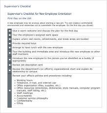 Staff Orientation Checklist 26 Hr Checklist Templates Free Sample Example Format Free